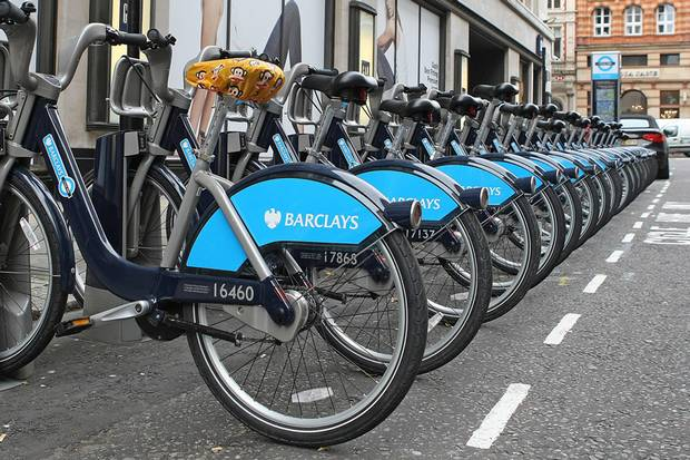 Велосипеды в аренду, Лондон, Англия.