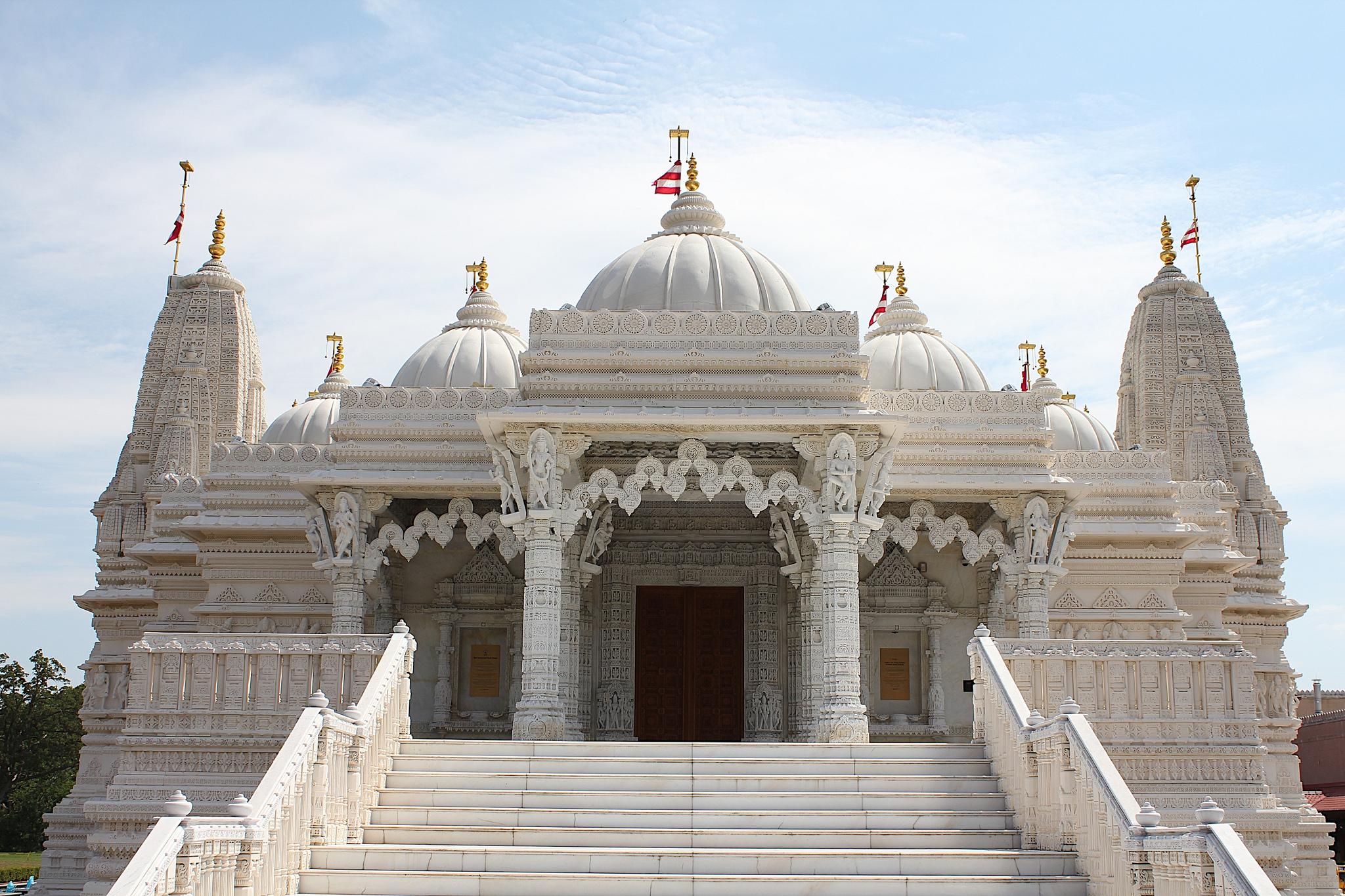 Индуистский Храм Шри Сваминараян, Лондон, Англия. Автор фото: Kristina D.C. Hoeppner