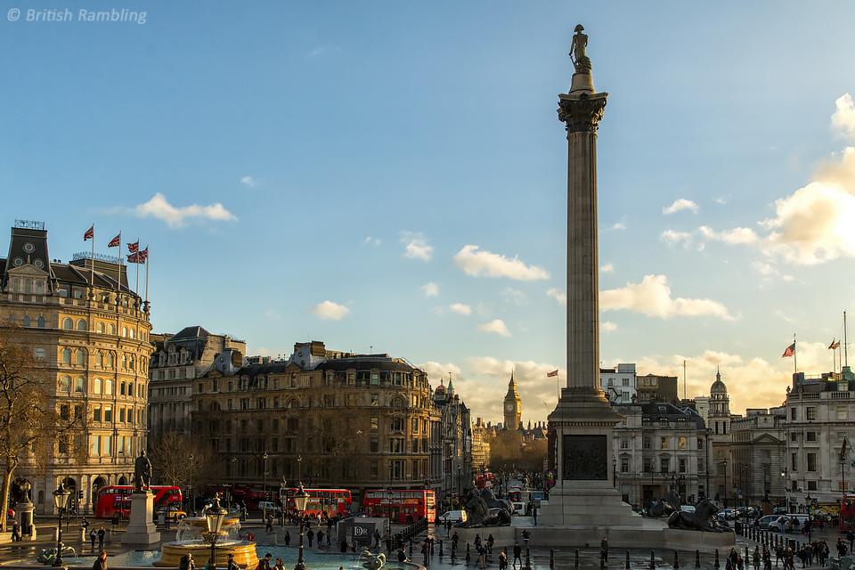 Трафальгарская площадь, Лондон, Англия.