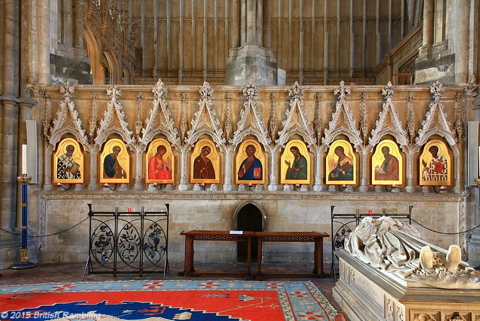Православные иконы в Уинчестерском соборе, Уинчестер, Англия.