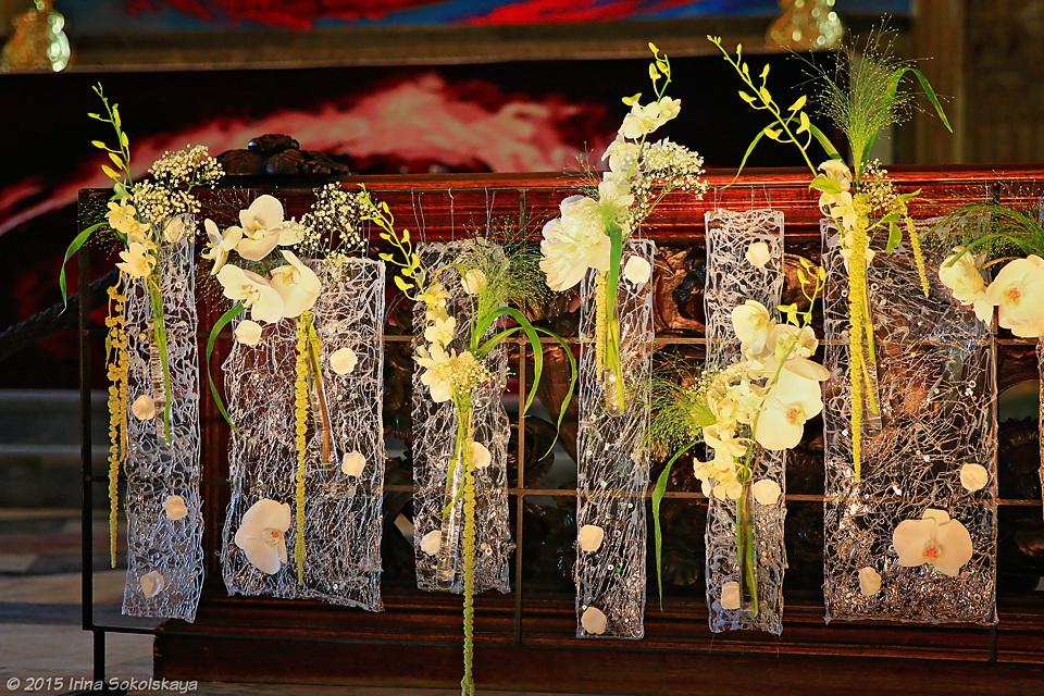 Фестиваль цветов Cascades, Уинчестерский собор, Англия.