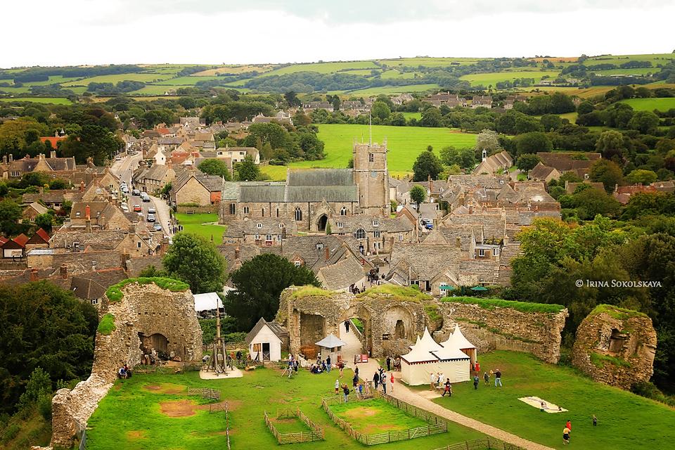 Замок Корф, графство Дорсет, Англия.Замок Корф, графство Дорсет, Англия.