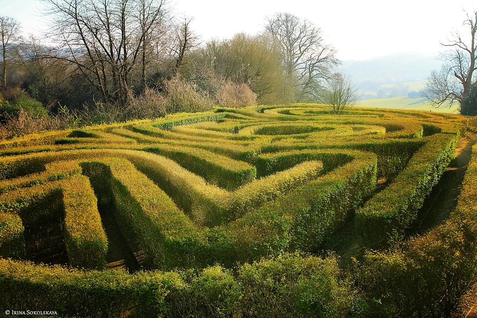 Деревня Пейнсвик, Котсуолдс, Англия.