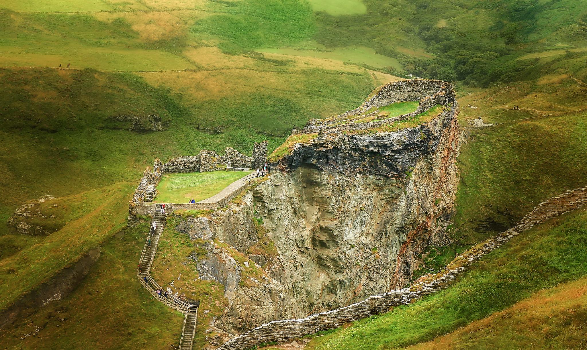 Замок Тинтаджел, графство Корнуолл