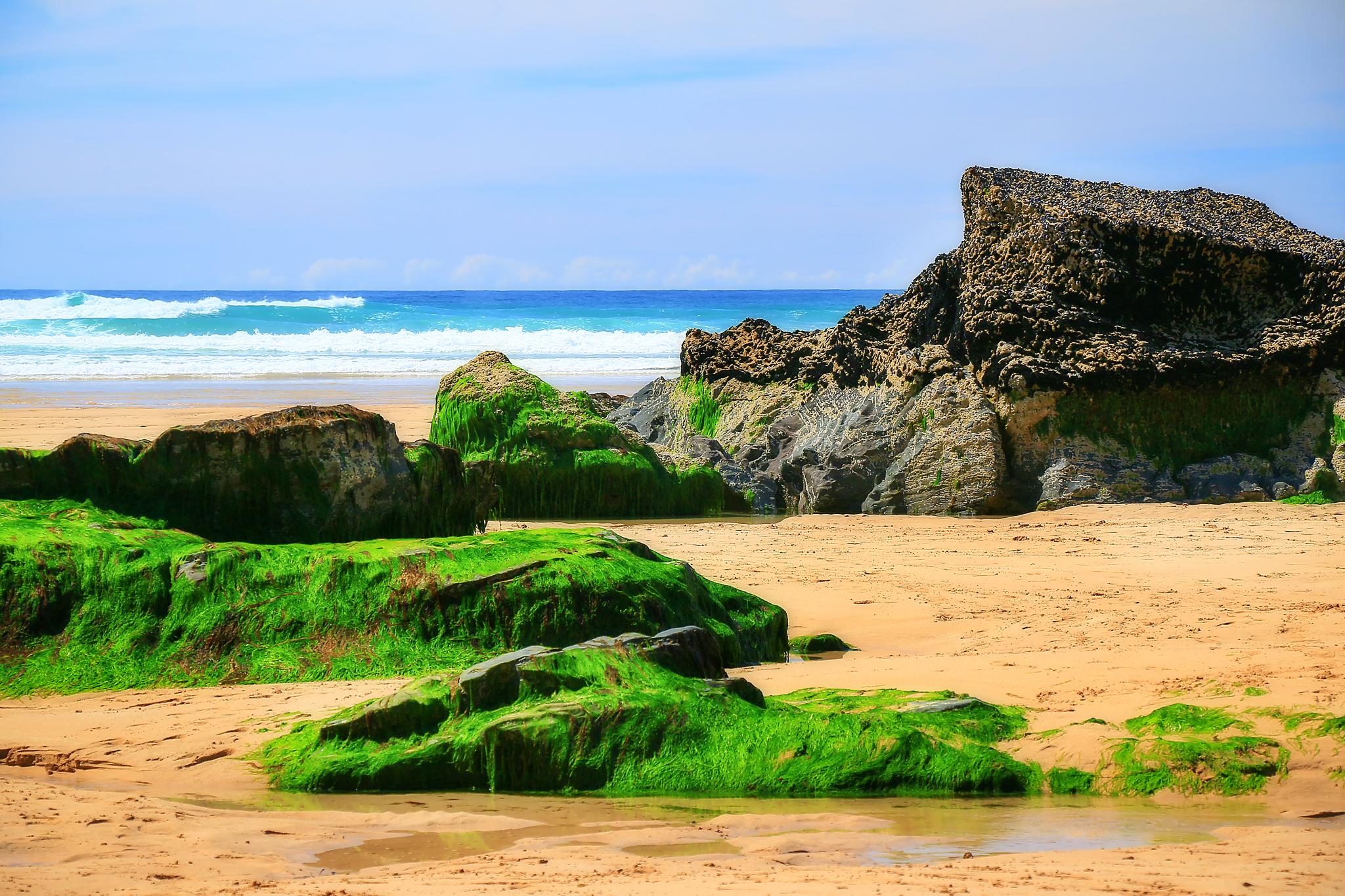 Пляж Bedruthan Steps, графство Корнуолл