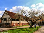 Старинные конюшни в соборном квартале, Уинчестер, Англия.