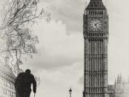 Два символа Британии: Биг Бен и Черчиль, Лондон
