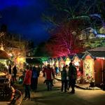 Рождественская ярмарка в Винчестере, Хэмпшир, Англия